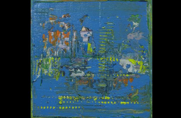 gelaagdheid,  20-20 cm, acrylverf, 70 Euro